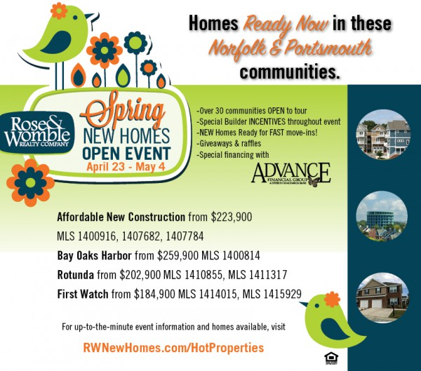 RW New Homes Open: Great New Homes in Norfolk and Portsmouth