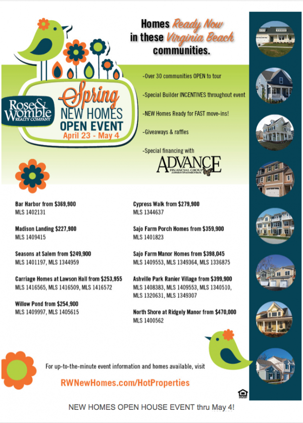 Rose & Womble New Homes Event: Virginia Beach New Homes