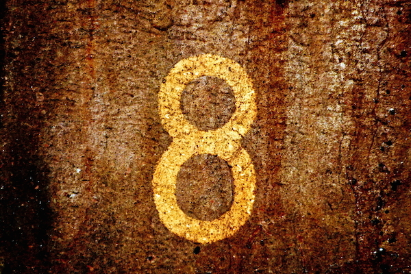 According to Chinese culture the number eight is lucky because it is similar to the word for wealth.