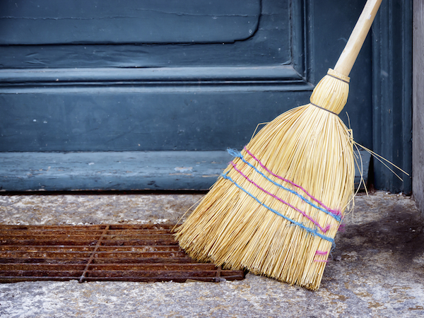 Old Brooms bring all of the negative energy from the past into your new home.  Instead purchase a new broom
