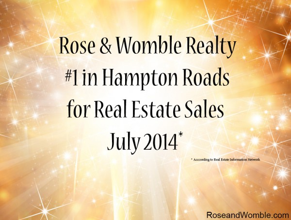 We're #1 in Settled Volume for Hampton Roads in July 2014