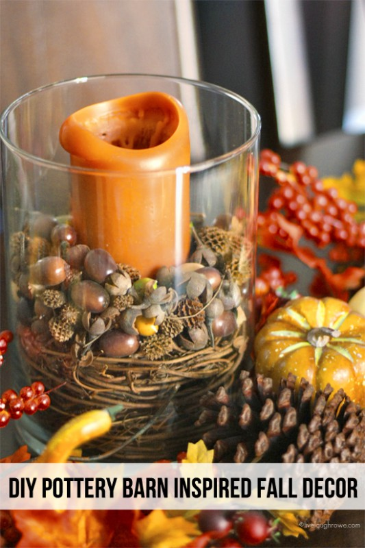 "Create beautiful and inexpensive center pieces for Fall tables with this great solution for ""filler"""