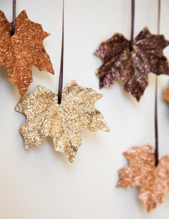 These can be hung as a garland, or placed around.  There is never a thing as too much glitter