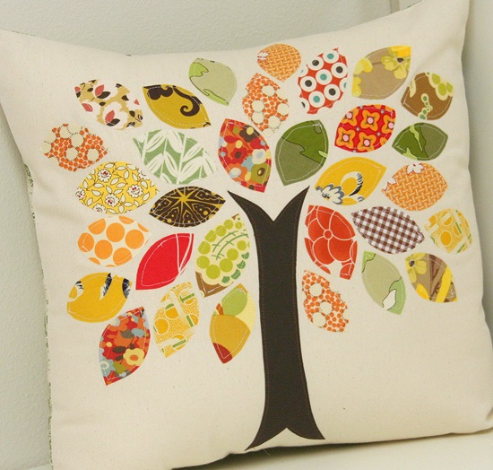 You could spend a lot of money to buy a pillow like this - or get your craft on and pull it together yourself.  Great use for scrap material