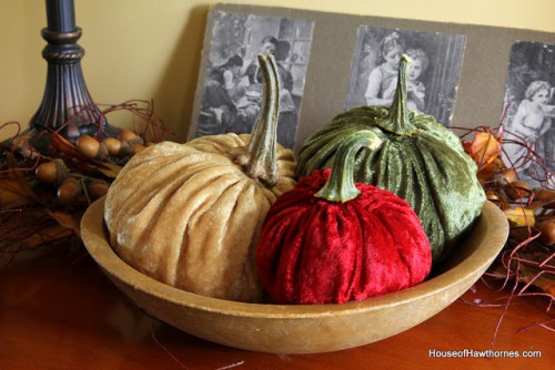 Velvet Pumpkins offer a fun and elegant way to highlight one of Autumn's famous harvests