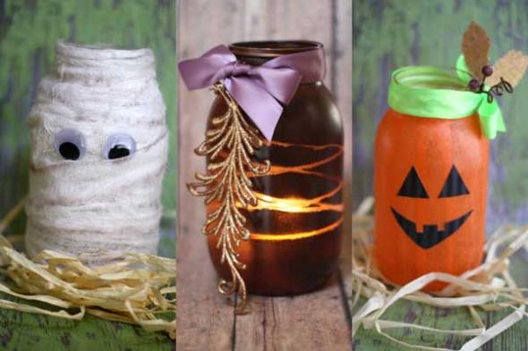 Super Cute for Halloween - these mason jar luminaries will delight for many spooky years