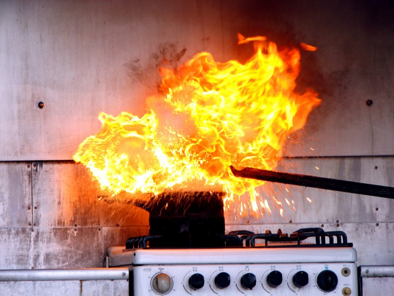 The leading cause of kitchen fires is unattended cooking - according to the NFPA
