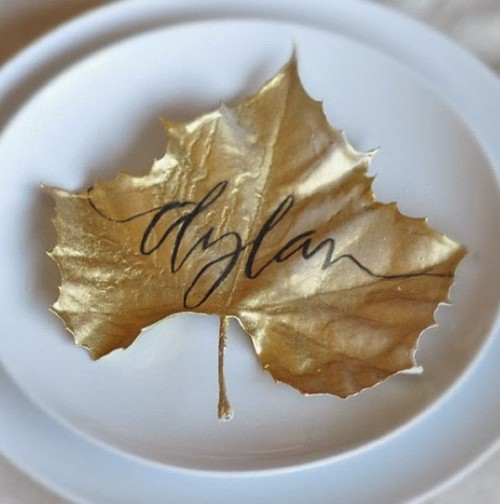 You could customize this look with different paint, but we really enjoy the gold. Photo and idea courtesy of ElementsofStyleBlog.com
