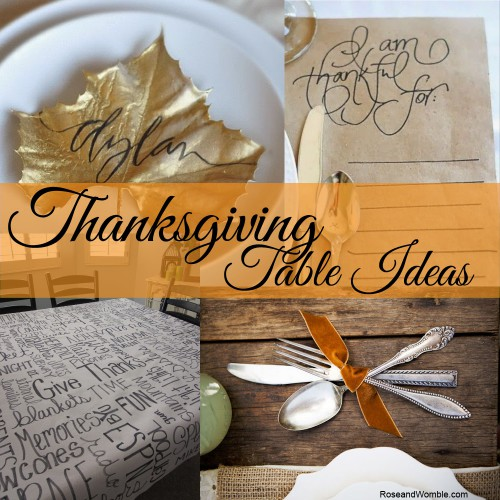 Great Ideas for Thanksgiving Table Settings