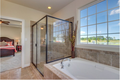 Master Bathroom at Grassfield Meadows