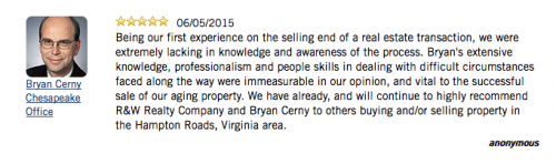 Testimonial Tuesday Bryan Cerny from Rose & Womble's Chesapeake Office