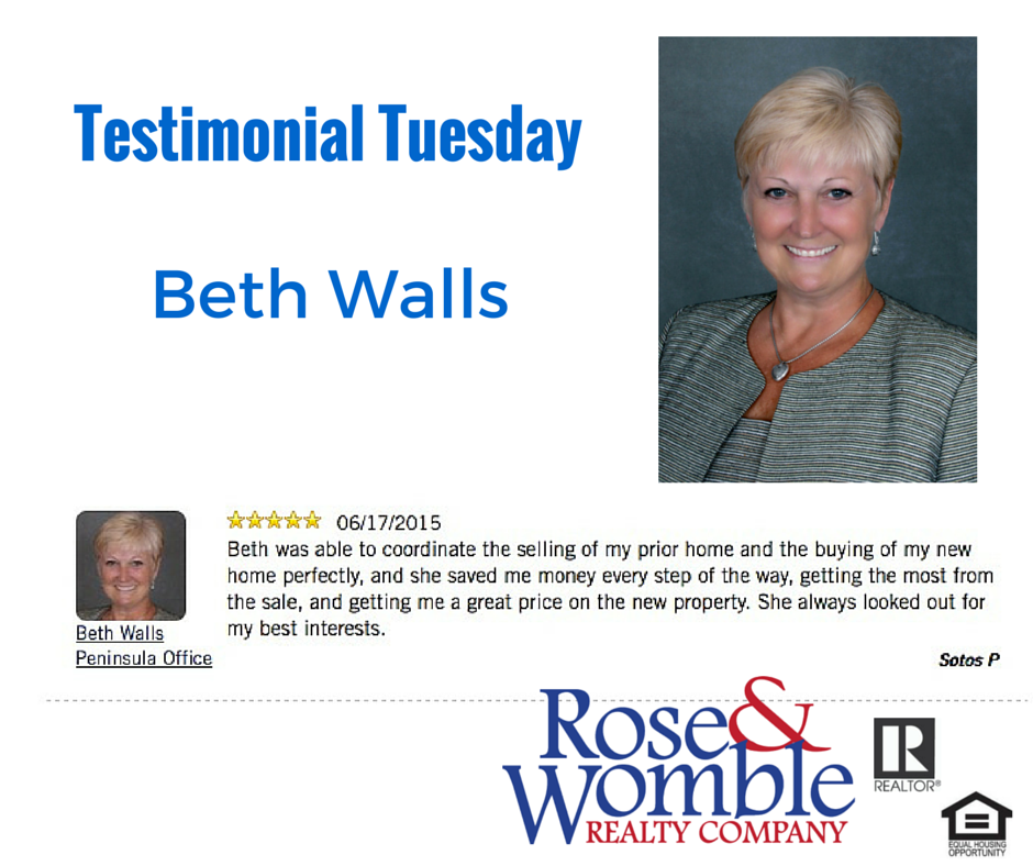 Testimonial Tuesday: Beth Walls