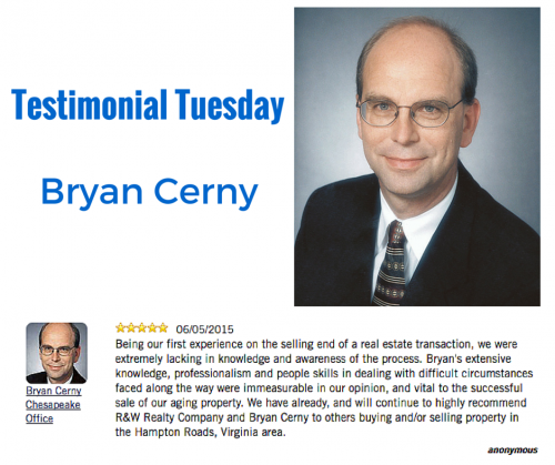 Testimonial Tuesday Features Bryan Cerny