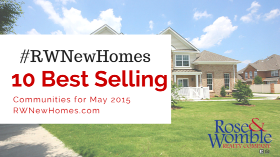 10 Top Ten Selling New Home Communities for May 2015
