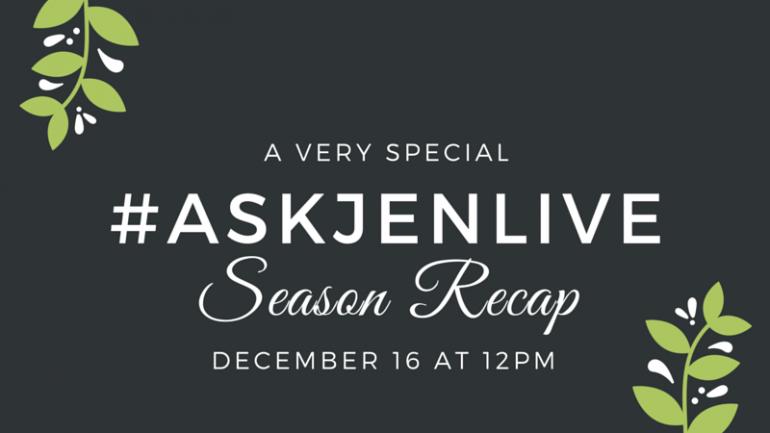 #ASKJENLIVE fall recap announcement