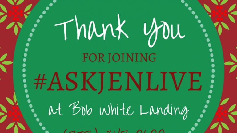 ask jen live bob white landing suffolk
