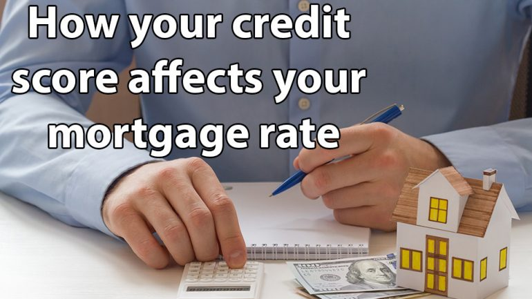 How your credit score affects your home mortgage rate