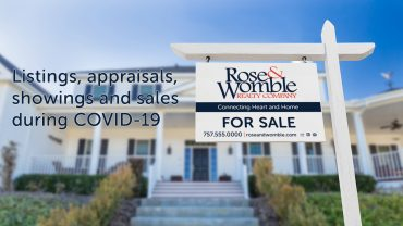 Listings, appraisals, showings and sales during COVID-19